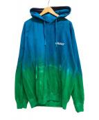 ()の古着「タイダイ染インターナショナルプルオーバーパーカー」 ブルー×グリーン