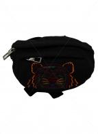 ()の古着「タイガー刺繍ウエストポーチ ボディ」 ブラック