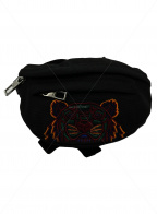 KENZO(ケンゾー)の古着「タイガー刺繍ウエストポーチ ボディ」|ブラック