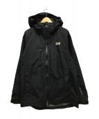 ()の古着「エベネスフーテッドジャケット」 ブラック