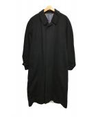 ()の古着「カシミヤロングコート」|ブラック
