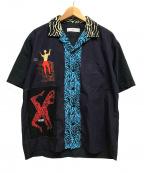 TOGA VIRILIS(トーガ ビリリース)の古着「コットンプリントオープンカラーシャツ」 マルチカラー
