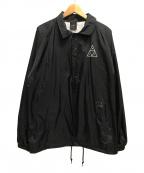 HUF(ハフ)の古着「コーチジャケット/ナイロン/ロゴ」 ブラック