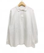 COMOLI(コモリ)の古着「19SS/鹿の子長袖ポロシャツ」|ホワイト