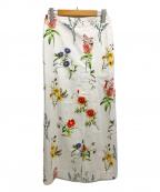 MACPHEE(マカフィー)の古着「BOUQUET ペンシルスカート フラワープリント」|ホワイト