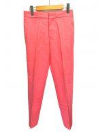DRAWER(ドゥロワー)の古着「ギャバジンテーパードパンツ」 ピンク