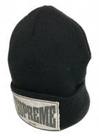 SUPREME(シュプリーム)の古着「20AW Woven Label Beanie/ニット帽」|ブラック