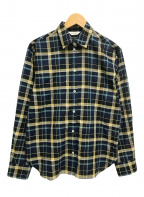 Demi-Luxe Beams(デミルクス ビームス)の古着「コットンリネンチェックワイドシャツ」 ネイビー