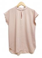 Demi-Luxe Beams(デミルクス ビームス)の古着「サテンステッチブラウス ノースリーブ」|ピンク
