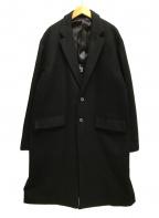 UNITED TOKYO(ユナイテッドトウキョウ)の古着「シンサレートメルトンオーバーサイズチェスター」|ブラック