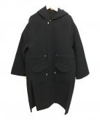 MACPHEE(マカフィー)の古着「ウールサイドスリットモッズコート フード」|ネイビー