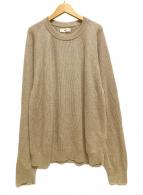 ()の古着「21SS french linen ribbed-knit 」 ベージュ