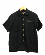 STYLE EYES(スタイルアイズ)の古着「半袖オープンカラーシャツ」|ブラック