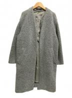 STUNNING LURE(スタニングルアー)の古着「ブークレーノーカラーコート」|グレー