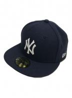 New Era(ニューエラ)の古着「キャップ/ヤンキース/59FIFTY」|ネイビー