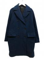 JIL SANDER NAVY(ジルサンダー ネイビー)の古着「ロングダブルコート」|ネイビー