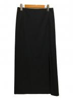 JIL SANDER(ジルサンダー)の古着「スリットロングスカート」|ブラック