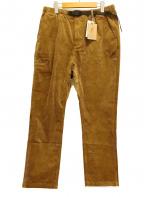 GRAMICCI(グラミチ)の古着「別注ジャストレングスストレッチコーデュロイパンツ」|ブラウン