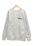 ()の古着「90'S/ロゴスウェット/刺繍タグ」|グレー