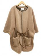 ()の古着「20AWエコファー サスティナブル レイヤード羽織りアウター」|ベージュ