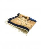 manipuri(マニプリ)の古着「総柄シルク混ストール」|ブラウン×ブルー