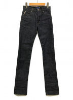 Burberry's  BLUE LABEL(バーバリーズ ブルーレーベル)の古着「デニムパンツ ノバチェック」|インディゴ
