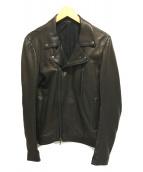 ()の古着「ラムレザーダブル ライダース ジャケット」|ブラック