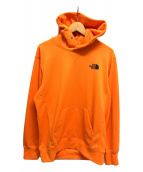 ()の古着「BACK SQUARE LOGO HOODIE」|オレンジ