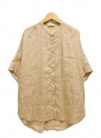 ()の古着「リネンドルマンシャツ ワイド 半袖」|ベージュ
