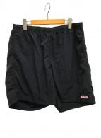 ()の古着「ナイロンショートパンツ」 ブラック