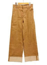 Chloe (クロエ) COCONUT BROWN PANTS ロールアップデニム  ブラウン サイズ:38