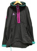 ()の古着「Woven Hooded Jacket」 グレー×ピンク