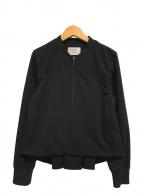 ()の古着「バックタックジップブルゾン」 ブラック