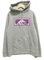 ()の古着「プルオーバーパーカー ロゴ」|グレー