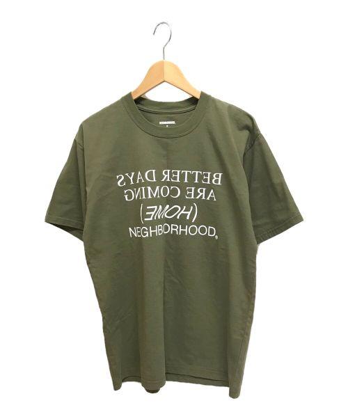 NEIGHBORHOOD(ネイバーフッド)NEIGHBORHOOD (ネイバーフッド) プリントTシャツ オリーブ サイズ:Sの古着・服飾アイテム