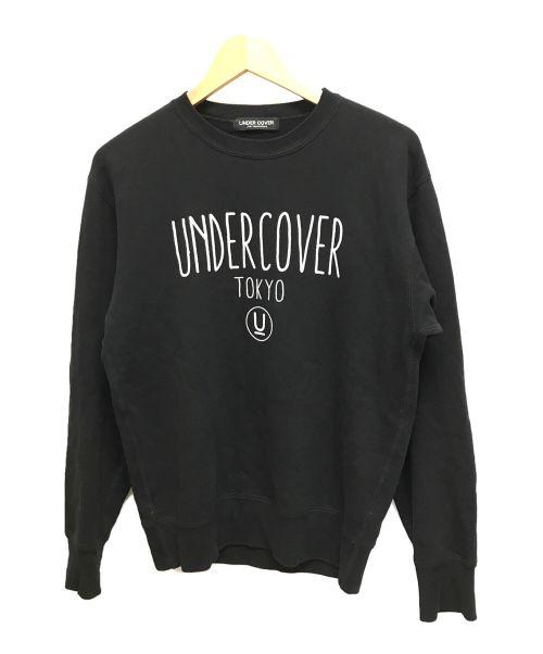 UNDERCOVER(アンダーカバー)UNDERCOVER (アンダーカバー) ロゴプリントスウェット ブラック サイズ:XSの古着・服飾アイテム