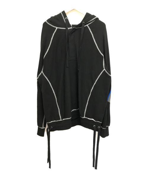 FACETASM(ファセッタズム)FACETASM (ファセッタズム) 20SS DRAWCORD HOODIE ブラック サイズ:Lの古着・服飾アイテム