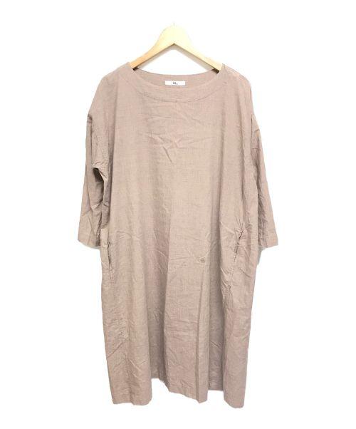 45R(フォーティファイブアール)45R (フォーティファイブアール) 長袖プルオーバーシャツワンピース ベージュ サイズ:XSの古着・服飾アイテム