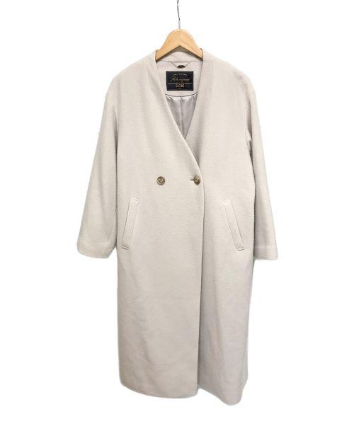 SLOBE IENA(スローブ イエナ)SLOBE IENA (スローブ イエナ) SUPER100 Vネックオーバーコート ベージュ サイズ:Fの古着・服飾アイテム