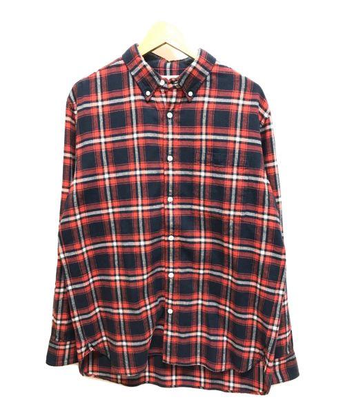 Pilgrim Surf+Supply(ピルグリム サーフ+サプライ)Pilgrim Surf+Supply (ピルグリム サーフ+サプライ) 長袖チェックシャツ レッド サイズ:M 未使用品の古着・服飾アイテム
