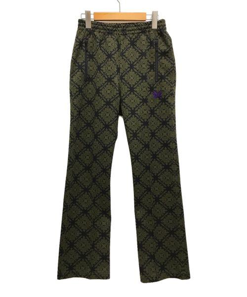 Needles(ニードルズ)Needles (ニードルズ) 21SS Track Pants Damask ブラック×グリーン サイズ:XSの古着・服飾アイテム