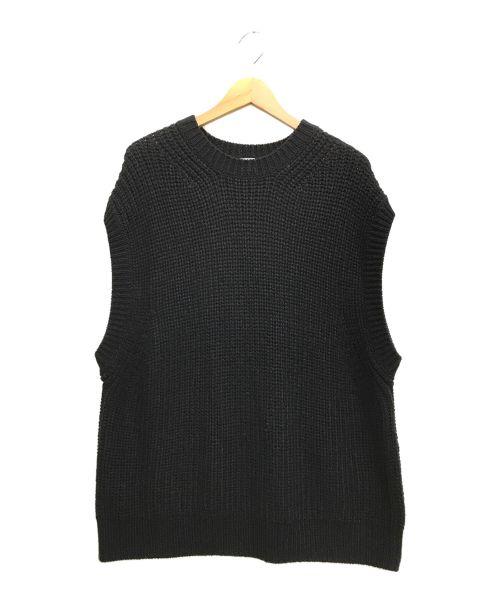 kaiko(カイコ)kaiko (カイコ) LOOSE C.N KNIT VEST ブラック サイズ:1の古着・服飾アイテム