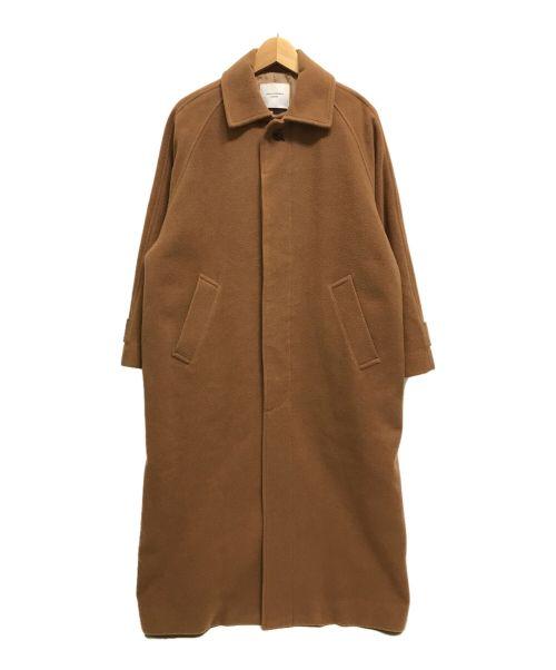 URBAN RESEARCH DOORS(アーバンリサーチドアーズ)URBAN RESEARCH DOORS (アーバンリサーチドアーズ) ウールバルマカンコート ロング ブラウン サイズ:FREEの古着・服飾アイテム