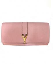 YVES SAINT LAURENT(イヴサンローラン)の古着「2つ折り長財布」|ピンク