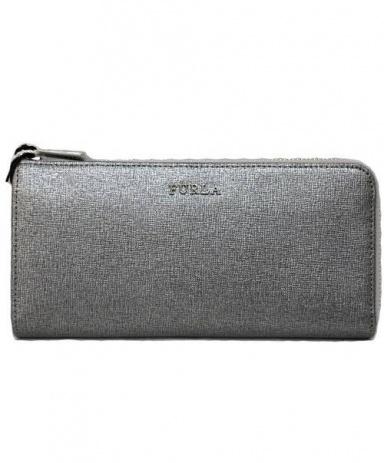 FURLA (フルラ) L字ファスナー財布 シルバー 未使用品 00802422 参考上代28.000円