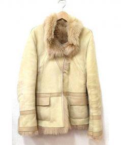 karl donoghue(カール ドノヒュー)の古着「ムートンジャケット」|ベージュ