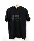 black market COMME des GARCONS(ブラックマーケットコムデギャルソン)の古着「17SSプリントTシャツ」|ブラック