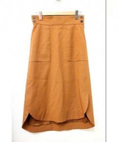 ADORE(アドーア)の古着「ハイツイストギャバスカート」|ブラウン