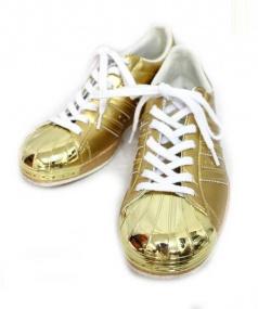 adidas originals(アディダスオリジナル)の古着「ローカットスニーカー」 ゴールド
