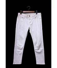 upper hights(アッパー ハイツ)の古着「ストレッチデニムボーイフレンドパンツ」|ホワイト